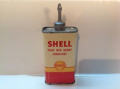 Vintage Shell Soap Can NOS FULL handy oiler Lead Top 4 oz Rare oil household old