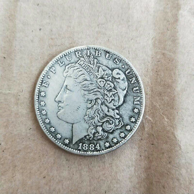 The United States can sounded foreign currency silver dollar Morgan yuan 1884