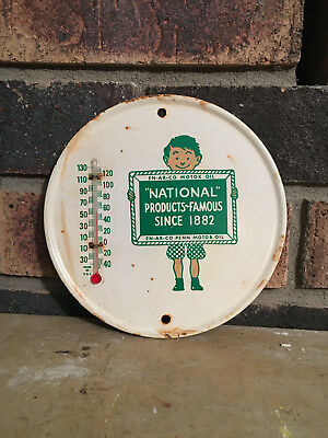 Vintage EN-AR-CO PENN MOTOR OIL NATIONAL Thermometer Weathered Thermometer