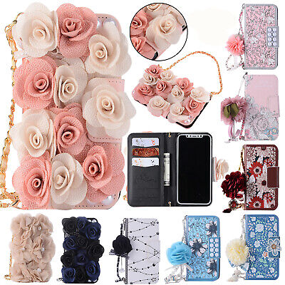 Handbag Magnet Leather Phone Case Chain Wallet Flip Cover For iPhone 6s 7 8 X/10