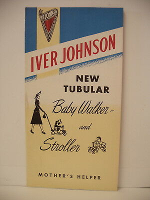 Original Iver Johnson model 35 Baby Walker Stroller Brochure Advertisement