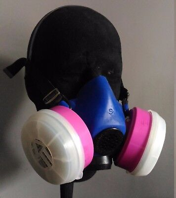 B220010 -Sperian Survivair Blue 1 Half-Face Mask /Respirator, SMALL + Cartridges
