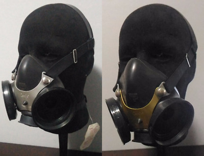 MSA Comfo Half-Face Mask / Respirator, MEDIUM or LARGE (Silver / Gold), NEW/USED