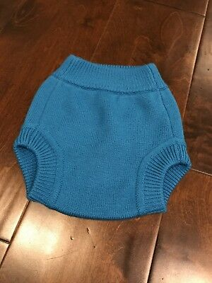 Knit Wool cloth diaper cover by Sustainablebabyish Size: Medium.  Excellent Con.