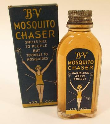 Vintage 1920s 30s Burma-Vita Mosquito Chaser w/ Box Insect Repellent Bug Lotion