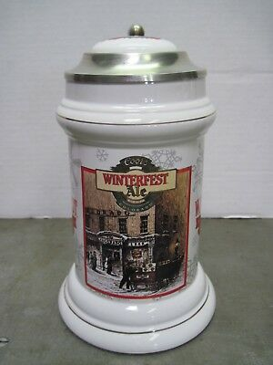 Coors Brewing Winterfest 10th Anniversary Ale 1996 Lidded Beer Stein / Mug