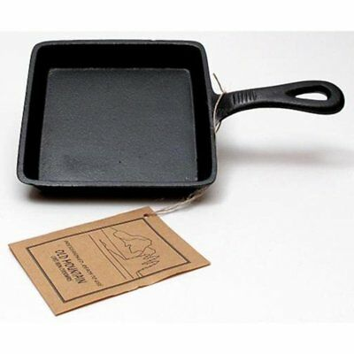 """OLD MOUNTAIN Cookware Preseasoned Cast Iron Square Skillet 5""""x5"""" Brand New"""