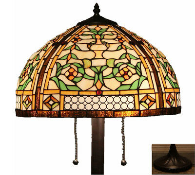 "Tiffany Style Stained Glass Floor Lamp ""Concerto"""