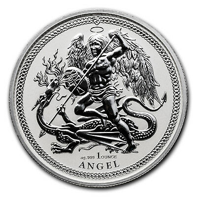 2017 Isle of Man 1 oz Silver Angel Reverse Proof