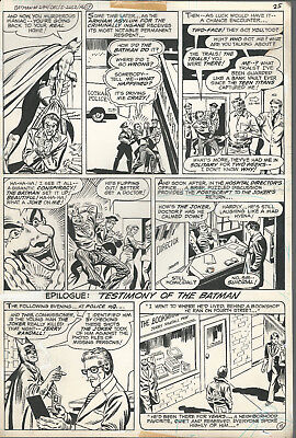 Original Art Batman #294 page 15 Joker Two-Face 1977 John Calnan