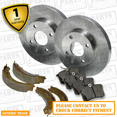 Pair Solid Front 95 to 02 Manual 240mm Set FORD FIESTA Mk4 1.2 2x Brake Discs