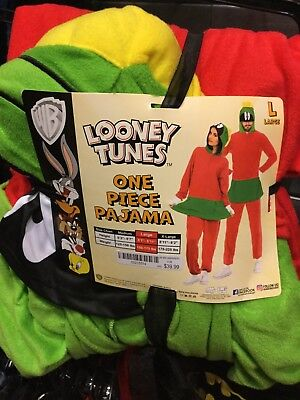 Looney Tunes MARVIN THE MARTIAN One-piece Pajama. Brand New. Adult Size XL