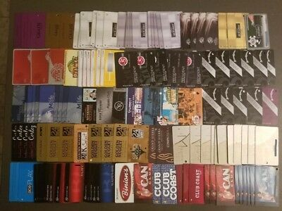 A Huge Las Vegas Nevada Slot Players Club Casino Card Lot Rare Obsolete WoW!!