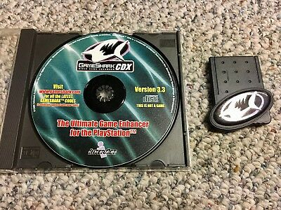 GameShark CDX Version 3.3 Sony PlayStation PSX PS1 PSOne Disc and Card Tested