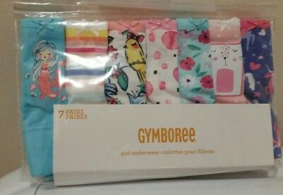 Gymboree Toddler Girl Briefs & Girls Boy Shorts Underwear Packs of 7 XXS, XS, S