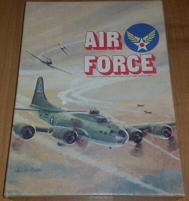 "Avlon Hill WWII War Book Case Game ""Air Force"" 1976 ""Very Nice"""