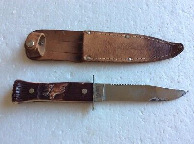 Vintage Imperial Prov Ri Usa Knife With Sheath