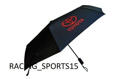 NEW TOYOTA RACING Automatic Travel Umbrella Auto Open Close Compact Folding