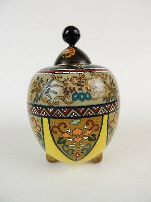 Antique Stunning little Japanese cloisonne lidded pot