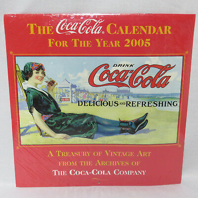 Coca Cola 2005 Wall Calendar Treasury of Vintage Art from Coke Archives Sealed