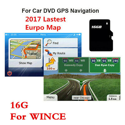 For WIN CE System Device 16GB MicroSD Card Europe UK Map GPS Navigation Software