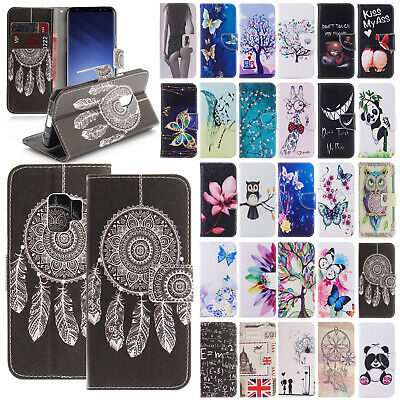 For Samsung Galaxy S9 S9 Plus New Patterned Leather Wallet Case Shockproof Cover