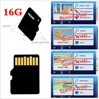 2017 EUROPE and UK Map for GPS Sat WIN CE system device wince microsd card 16GB