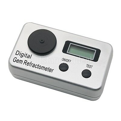 Digital Gem Refractometer 1.4-2.0 RI Gemstone Gemology Gemological F/ Diamond DE