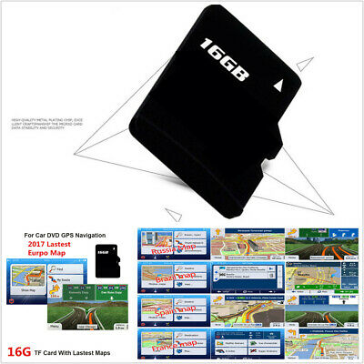 GPS Navigation 16G Micro SD Card Sat Nav EUROPE ,UK LATEST MAP For WinCE System