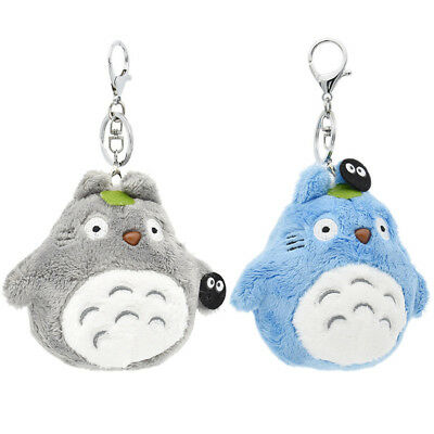 Totoro Soft Plush Cute Keyring Grey Blue Key Pendant Ring for Women Fashion New