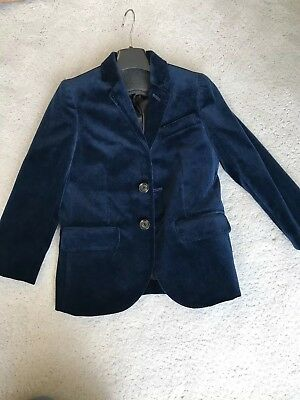 NWT J.crew crewcuts Blue Velvet Blazer Holiday Jacket Size 5. Sold out!