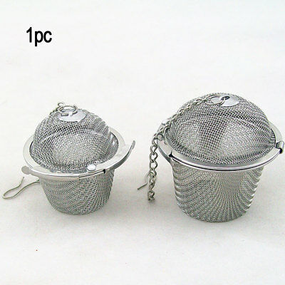 New Reusable Mesh Tea Ball Cooking Soup Spices Stainless Steel Strainer Filter