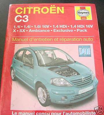 MANUEL  REVUE  TECHNIQUE  AUTOMOBILE  HAYNES  CITROEN C3  C 3  Essence  Diesel