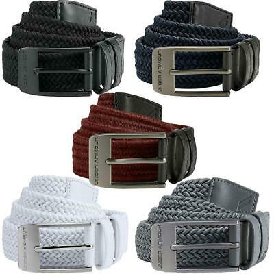 Under Armour 2018 Mens 2.0 Braided Stretch-fit Woven Golf Webbing Belt