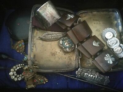 Job Lot Of Antique Jewellery Including Silver For Spare Repair