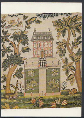 Museum Postcard - Picture Embroidered In Silk On Woollen Canvas, English RR2736