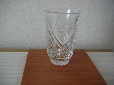 CUT  GLASS CRYSTAL  VASE  13.5cm high