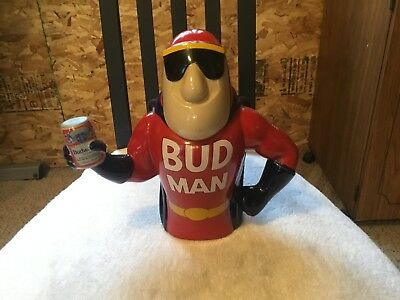 1993 Anheuser Busch Budweiser Bud Man Beer Lidded Stein Budman  With COA  NO BOX