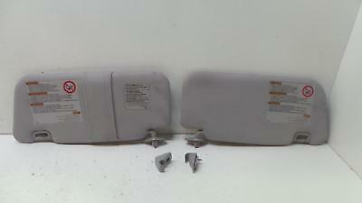 Subaru Forester 2002 - 2008 Pair Left & Right Grey Sun Visors & Clips