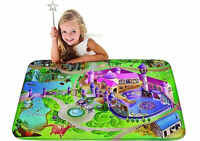 Kids Ultra Soft Play Mat for Children Learnig Carpet Area Rugs - Princess Castle
