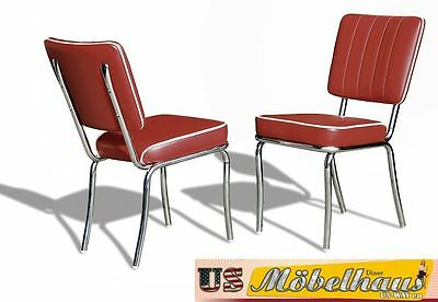CO-25 Ruby Bel Air Furniture 2 Chairs Diner Kitchen in the Style of 50 Piece
