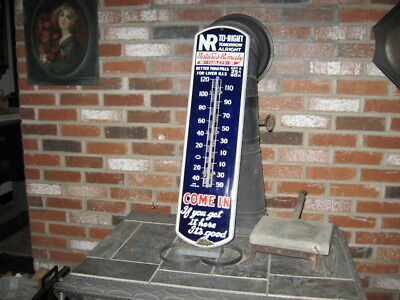 Nature's Remedy Original Advertising Porcelain Thermometer