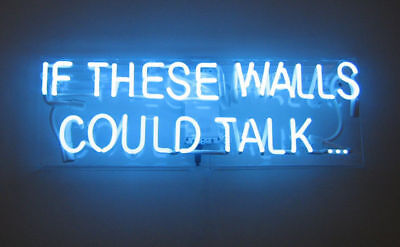 """14""""x7""""IF THESE WALLS COULD TALK Neon Sign Light Beer Bar Party Visual Artwork"""