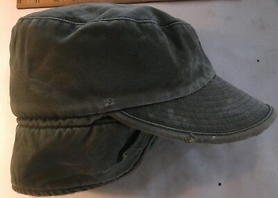 ARMY AIR FORCE Vintage WWII Hat Flight Green Military Cap Mechanic Aviator Pilot