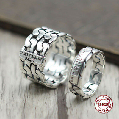 s925 sterling silver men ring The trend of ring Punk wind to do the old style Se