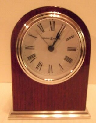 Howard Miller® Rosewood Arch Mantel Alarm Clock Made in the USA