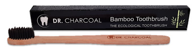 Eco Vegan Bamboo Charcoal Toothbrush Antibacterial Soft Fine Gentle Oral Brush