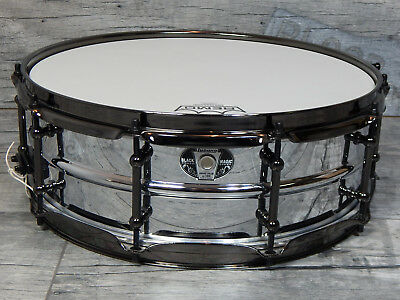 "Ludwig Black Magic Stainless Steel 14"" x 5""  Snare Snaredrum  *TOPZUSTAND*"