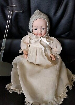 """Vintage antique Nippon 22 composition bisque baby doll 9.5"""""""