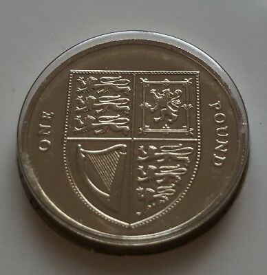 2010 Royal Shield of Arms One Pound £1 BU UNC Brilliant Uncirculated